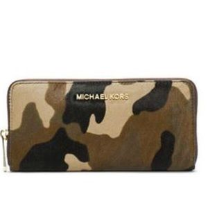 Michael Kors Calf Hair Camo Wallet